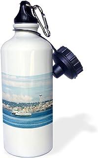 3dRose USA, Washington, Ferry Between Bainbridge Island and Seattle. -Sports Water Bottle, 21oz , 21 oz, Multicolor