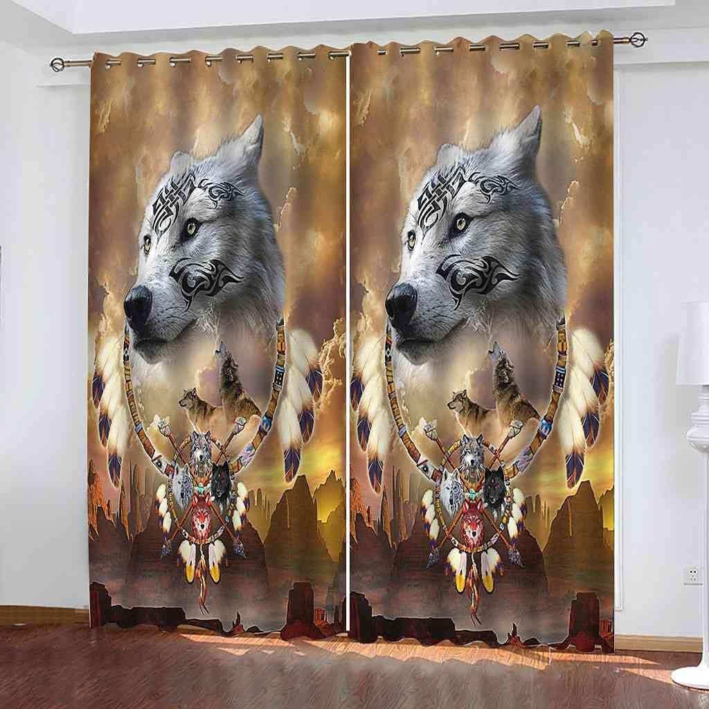 BFYRYL Blackout Minneapolis Mall Curtains Dream Catcher Animal Wolf B 3D Printing Max 65% OFF