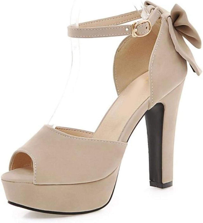 Women Open Toe Strap Sweet Platform High Heel Sandals
