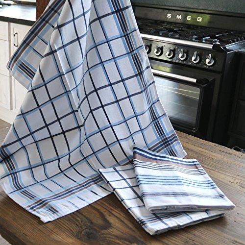 Heimtexland hoogwaardige theedoeken, 3 stuks, 50 x 70 cm, absorberend, 100% katoen, droogdoeken, 3-delige set, keukenhanddoeken, Ökotex gecertificeerd, type 556