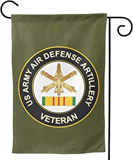 Army Air Defense Artillery Vietnam Veteran Garden Flag Vertical Double Sided for Yard Home 12.5 X 18 Inch,28 X 40 Inch