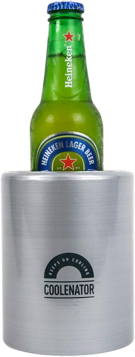 Coolenator Nr. 1 enfriador de cerveza, soda, latas y botellas, refresca activamente bebidas hasta 4 horas – Compatible con latas de 12 oz de cerveza Soda Soft Drinks