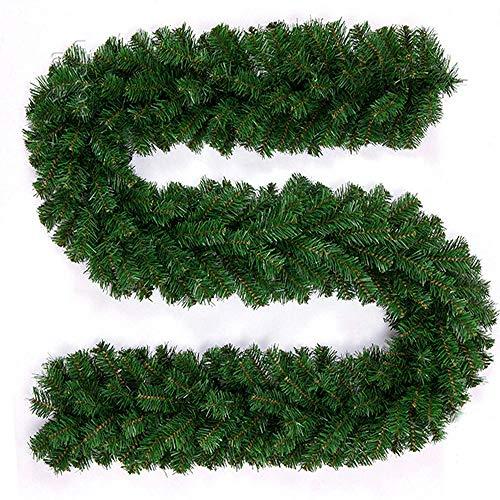 Weihnachtsgirlande Tannengirlande Künstliche Grüne Girlande 270cm x 25cm Girlande Weihnachten Weihnachtsdeko Girlande Treppe Weihnachten Dekoration Fenster