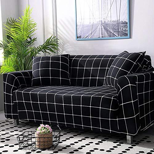 Elastische losse stof 3-zits hoekbank Couch Cover Antislip verwijderen Sectionele armsteun Kussenovertrekken Stretch Modern voor meubels-D_1 zit (90-140cm)