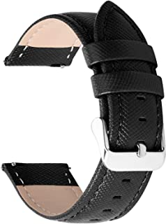 6 Colors for Quick Release Leather Watch Band, Fullmosa Cross Genuine Leather Replacement Wrist Strap for Men & Women 14mm...