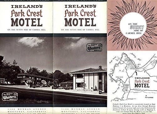 Ireland's Park 5 ☆ very Shipping included popular Crest Motel Monterey 1960's California Brochure