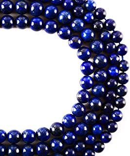 RayLineDo 47Pcs 8mm Natural Blue Lapis Lazuli Stone Round Beads Loose Beads Wholesale for Jewelry Making