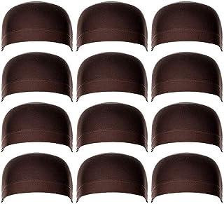 قبعات شعر مستعار، 12 قطعة من قبعة الشعر المستعار العالمية ذات المرونة العالية وإكسسوارات الشعر المستعار للنساء والرجال