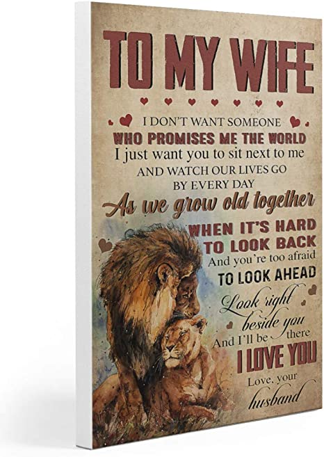 Home Decor Autumn Decor Custom Canvas Customized Canvas Camping Wall Art When I Tell You I Love You Camping Poster To Wife Lion
