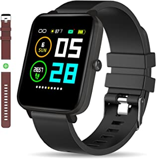 Zagzog Smart Watch: All-Day HeartRate Activity Tracking,Waterproof,Full Touch Screen,Step Counter,Calorie Counter,Pedometer,Sleep Monitoring,Ultra-Long Battery Life, for iOS&Andriod