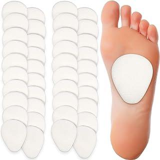 20 جفت پد متاتارسال ، پد های ضخیم نمدی ضخیم 1/4 اینچ ، پد های پشت پا ، بالشتک های پشتیبانی کننده کف متاتارسال برای زنان و مردان تسکین دهنده درد پاشنه بلند
