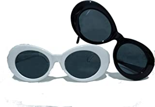 Clout Goggle Sunglasses - 1 or 2 Pairs UV400 White/Black/Leopard Cobain Inspired