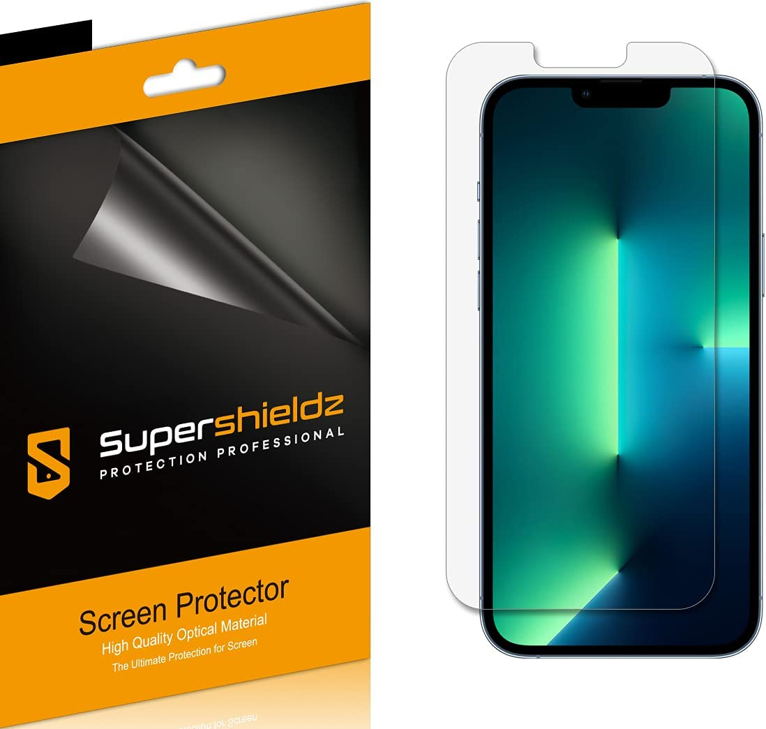 (6 Pack) Supershieldz Designed for Apple iPhone 13 Pro Max (6.7 inch) Screen Protector, High Definition Clear Shield (PET)