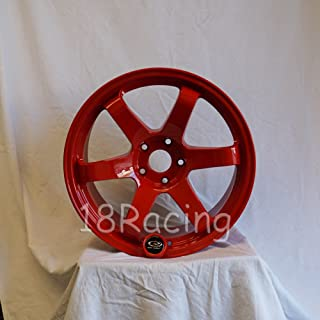 1 PC ONLY ROTA GRID 18x9.5 PCD: 5X114.3 OFFSET:20 HB:73 DEEP RED
