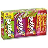 Contains one (1) 37.05-Ounce 18-count variety mix box of SKITTLES and STARBURST Candy This variety pack features SKITTLES Original, Sour, and Wild Berry flavors and STARBURST Original, and FaveREDS, Give everyone's favorite SKITTLES and STARBURST Can...