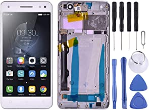 LCD Screen Screen Replacement Touch Display LCD Digitizer Assembly With Front Facing Camera Proximity Sensor, for Lenovo Vibe S1 Lite S1LA40 (Color : White)