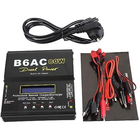 Batería digital LCD de 80W Cargador de equilibrio 1-6 celdas Descargador de batería LiPo para batería Li-ion Li-Po NiCd Ni-MH RC