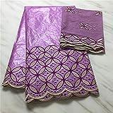 ENTREGA RÁPIDA NUEVO encaje de tul encaje francés para coser ropa de vestir tela africana Bazin 5 yardas + 2 yardas tela de encaje de gasa suiza