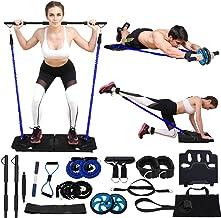 Kacsoo Multifunctionele draagbare fitness set, draagbare ab roller weerstand banden gym fitness apparatuur voor mannen vro...