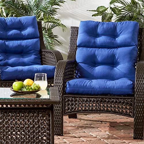Cikonielf Cojín para silla de patio con respaldo acolchado, moderno cojín para silla balancín grueso para exteriores cojín para jardín