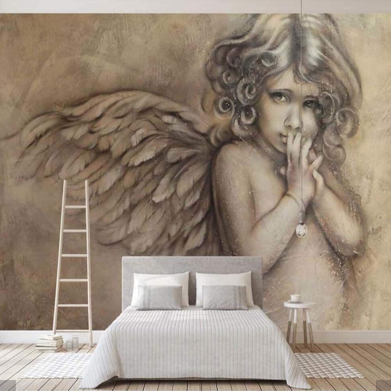 ADDFLOWER 3D Geprgte Engel Europischen Wallpaper Wandbild für Wohnzimmer TV Hintergrund Wand Dekor Benutzerdefinierte Gre Gedruckt Foto Wand Papier Wandbilder, 200x140 cm (78,7 von 55,1 in)