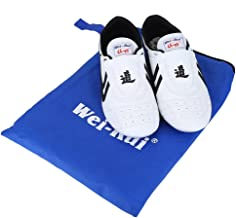 Taekwondo Shoes,Martial Arts Sneaker Sport Boxing Karate Kung fu Taichi ShoesLightweight Shoes for Kids Women Men Adult with Blue Storage Bag(41 Size Suitable 250mm Foot Length)