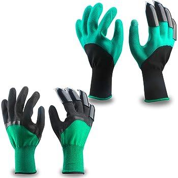 Guantes de jardin Mano izquierda y la derecha (2 pares 4 garras) , Eiito guantes de jardinería con garras de excavación para el jardín y tareas del hogar: Amazon.es: Bricolaje y herramientas