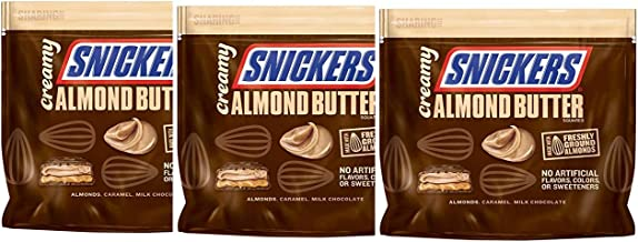 Snickers Creamy SNICKERS Almond Butter Square, 7.7 Ounce Bag(Pack of 3)