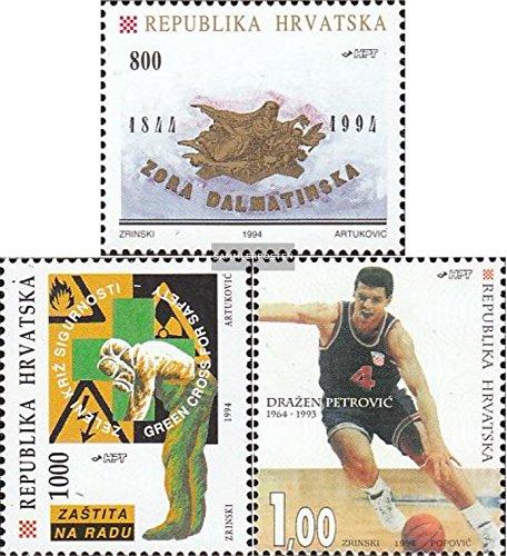 Prophila Collection Kroatien 270,273,278 (kompl.Ausg.) 1994 Sondermarken (Briefmarken für Sammler) Basketball/Volleyball/Handball