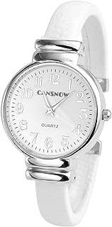 Top Plaza Women Casual Chic Simple Bangle Cuff Bracelet Dress Quartz Watch 6.5 Inches