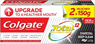 Colgate Total Toothpaste, Charcoal Deep Clean, 150g (Pack of 2)