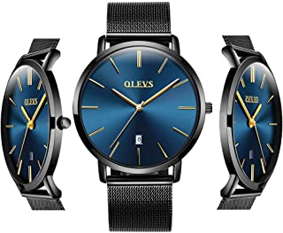 OLEVS Inexpensive Watches Men Women Analog Quartz Business Watch Stainless Steel Classic Waterproof Watches Unique Calendar Date Window Wristwatch