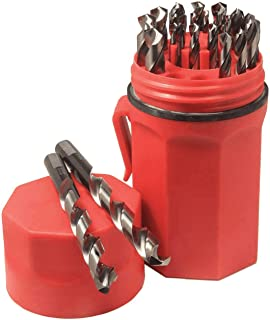 Norseman CN-TECH Cryogenic Nitrided Super Premium 29 Piece Drill Bit Set - Red Ultradex - 47462-135 Degree Split Point - Round Shank With Three Flats