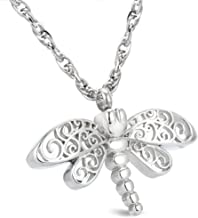 Glimkis Dragonfly Cremation Jewelry Urn Necklace for Ashes for women Keepsake Memorial Pendant for Ashes