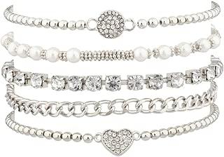Womens Arm Candy Bracelet Multi Style 5 pc Sets