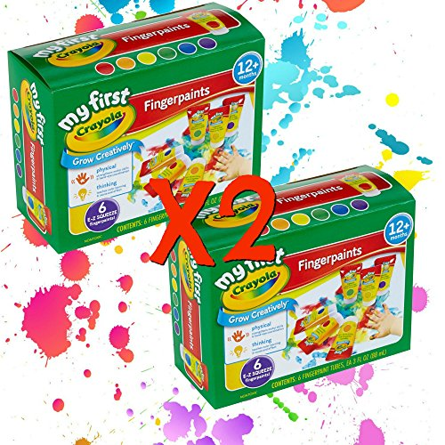 Crayola Washable Finger Paint Easy Squeeze Bottles Family Fun For All Ages Set Of 2 12 3 OZ Bottles 2 of each color