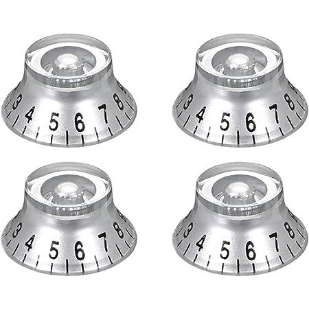 Black 6mm Potentiometer Knob For LP Electric Guitar Acrylic Volume Knob 4pcs