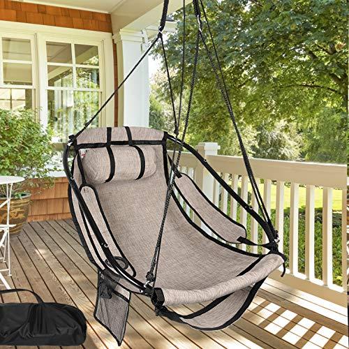 TITLE_Bathonly Hammock Air Chair with Metal Bar Frame