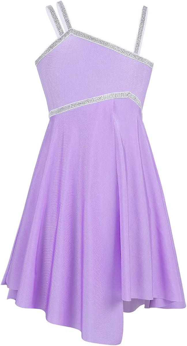 iiniim Girls Sequined Camisole Ballet Lyrical Manufacturer regenerated product Dress Asymme Dance Trust