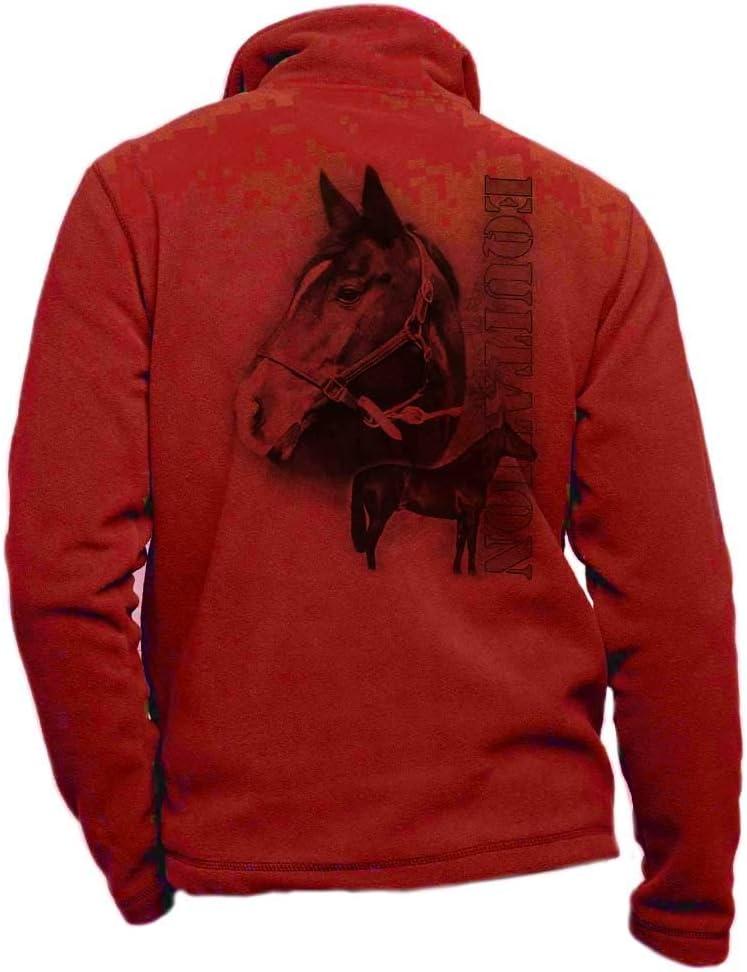 Pets-easy Veste Polaire /équitation avec Un Cheval cabr/é v/êtement d/équitation personnalis/é pour Cavalier