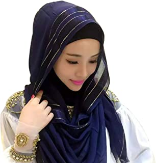 Weixinbuy Women's Headscarf Middle Eastern Hijab Caps Scarf Cover Head Scarves Scarf Accessories for Women