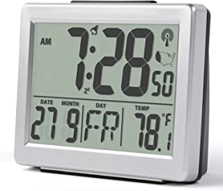 CASACLAUSI LCD Alarm Clock Radio Controlled Instruction (Silver)
