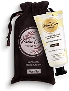 The Palm Care Company VanillaSanitizing Hand Cream for Women and Men, Light and Non-greasy (50ml)