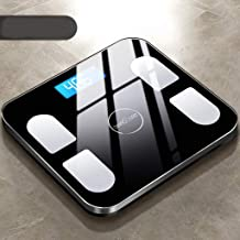 NYDZDM Electronic Scales Home Precision Electronic Weight Scale Adult Intelligent Body Fat Called Human Body Small Weight Loss Health Female Test Fat USB Charging (Color : Black)