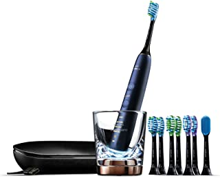 Philips Sonicare Diamond Clean Smart Electric Rechargeable Toothbrush for Complete Oral Care with Charging Travel Case, 9700 Series - HX9957/38, Lunar Blue, 3.19 Pound