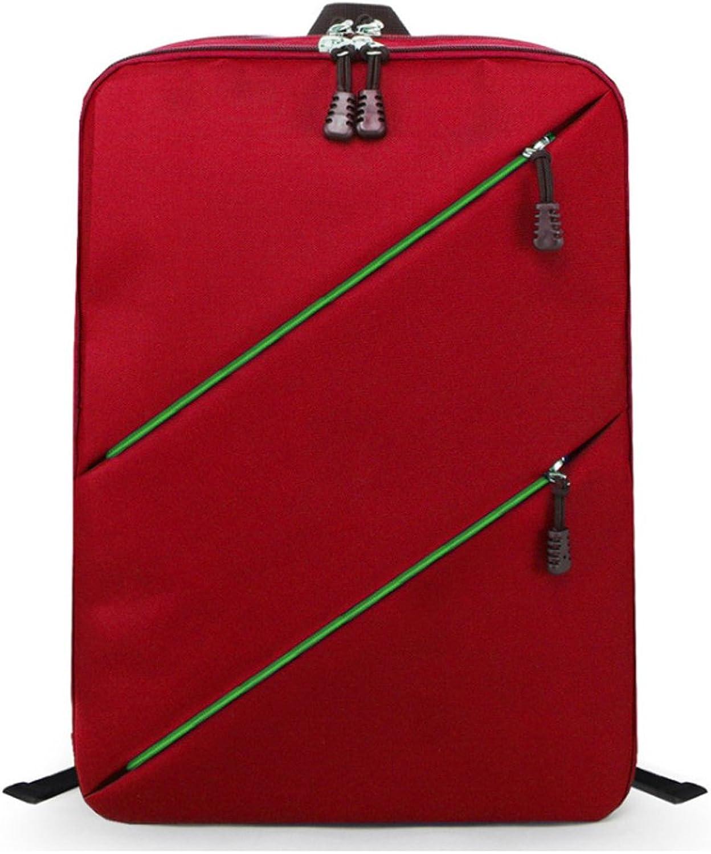 FBear 14 Inch Red Waterproof Nylon Laptop Backpack Notebook Bag