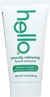Hello, Naturally Whitening Fluoride Toothpaste, Farm Grown Mint, 1 oz (28.3 g)