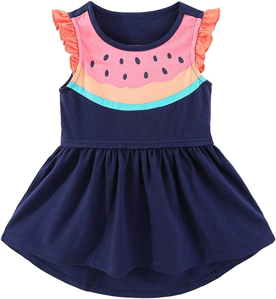 Mud Kingdom Little Girls Sales results No. 1 Dress Prints Cute Cartoon Summer Casual sold out