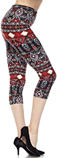 New Mix Woman Super Soft and Cute Popular Print Capri Leggings