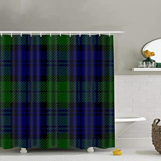 best bags Black Watch Tartan Plaid Fabric Shower Curtain Heavy-Duty Waterproof and Polyester Bathroom Curtains for Shower Bathtubs 72X72 Inch